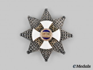 Italy, Kingdom. An Order of the Crown, Grand Officer Star, by Cravonzola in Gold, c. 1900