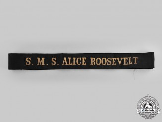 Germany, Imperial. An S.M.S. Alice Roosevelt Cap Tally Ribbon