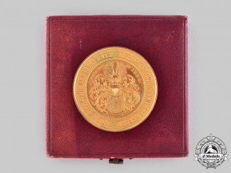 Saxony, Kingdom. A Medal for Exceptional Proficiency, with Case, by L. Christian Lauer