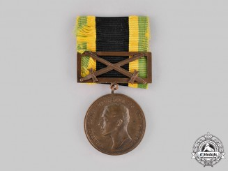 Saxe-Weimar-Eisenach, Grand Duchy. A General Honour Medal in Bronze with Sword Clasp, c.1914