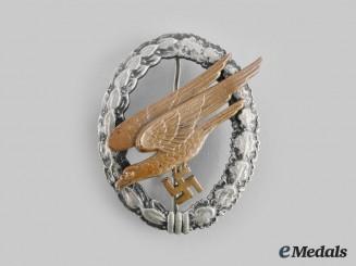 Germany, Luftwaffe. A Fallschirmjäger Badge, Type E, by F.W. Assmann & Söhne