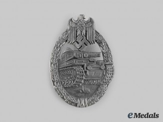 Germany, Wehrmacht. A Panzer Assault Badge, Silver Grade, by Wilhelm Hobacher
