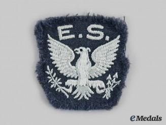 United States. A Royal Air Force (RAF) Eagle Squadron Shoulder Patch, Rare, c.1941