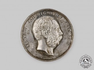Saxony, Kingdom. A Silver Medal for Faithful Labour, by Max Barduleck