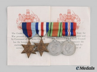 United Kingdom. A Second World War Medal Bar, c. 1945