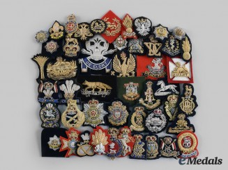 United Kingdom. A Lot of Forty-Eight Bullion Army Regimental Badges