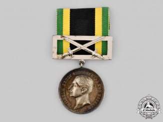 Saxe-Weimar-Eisenach, Grand Duchy. A General Honour Medal in Silver with Sword Clasp