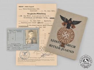 Germany, HJ. A Lot of Identity Documents to HJ Unterführer Heinrich Gerritzmann