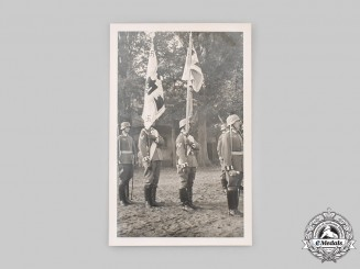 Germany, Wehrmacht. A Photograph of Wehrmacht Standard Bearers, 6th Infantry Regiment