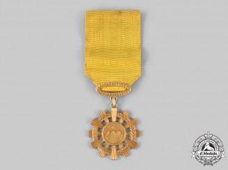 Ecuador, Republic. A National Order of Merit, Gold Medal in 18Kt Gold, c.1921