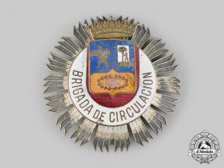 Spain, Franco Period. A City of Madrid Municipal Traffic Police Star