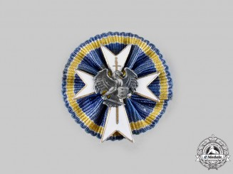 Estonia, Republic. A Miniature White Cross of the Civil Guard, c.1930