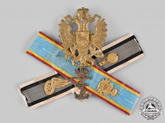Europe. A Decorative Wall Hanger Featuring German & Austro-Hungarian Insignia