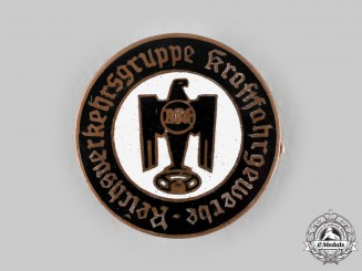 Germany, Third Reich. A National Motor Vehicle Association Drivers Union Membership Badge by Paulmann & Crone