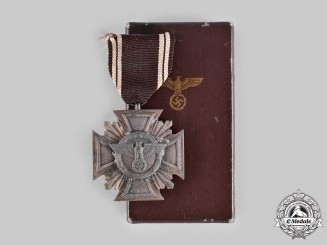 Germany, NSDAP. A Long Service Decoration, Bronze Grade for 10 Years, with Case by Josef Hillebrand