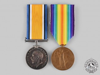Canada, CEF. A Medal Pair, 60th Infantry Battalion, 5th Canadian Mounted Rifles