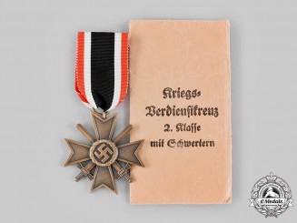 Germany, Wehrmacht. A War Merit Cross, II Class with Swords, by Gebrüder Godet & Co.