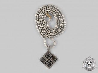 Germany, Weimar Republic. A Silver NSDAP Necklace by Theodor Fahrner