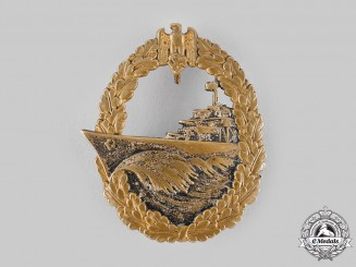 Germany, Kriegsmarine. A Destroyer War Badge by Schwerin & Sohn