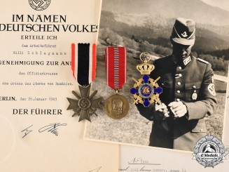 Germany, Third Reich. The Awards & Documents of RAD Arbeitsführer Willi Schlagmann, 1942-1943