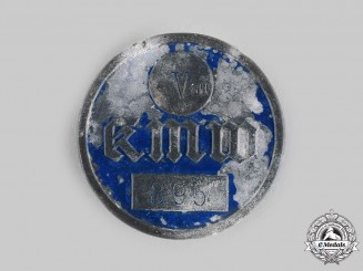 Germany, Kriegsmarine. A Wilhelmshaven Dockyard Worker's Identification Badge