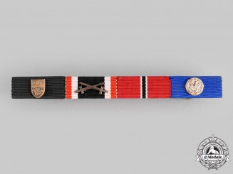 Germany, Wehrmacht. A Medal Ribbon Bar, 1957 Issue
