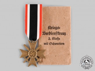 Germany, Wehrmacht. A War Merit Cross, II Class with Swords, by Philipp Türk's Witwe