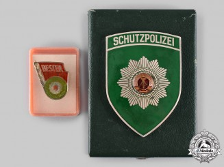 Germany, Democratic Republic (East Germany). Two Police Awards