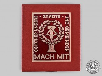 Germany, Democratic Republic (East Germany). A National Front Cities &  Communities Beautification Award Plaque