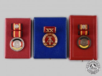 Germany, Democratic Republic (East Germany). A Lot of Three Medals