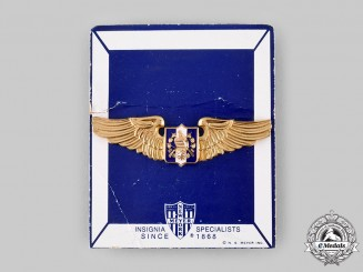 Guatemala, Republic. An Air Force Pilot Badge, by N.S.Meyer, New York