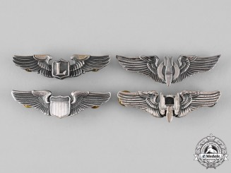 United States. Four Army Air Force Badges
