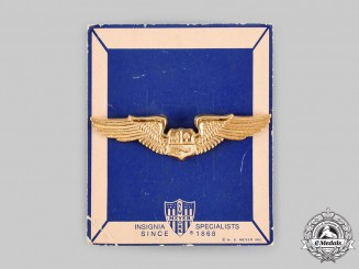 Peru, Republic. An Air Force Pilot Badge, by N.S.Meyer, New York
