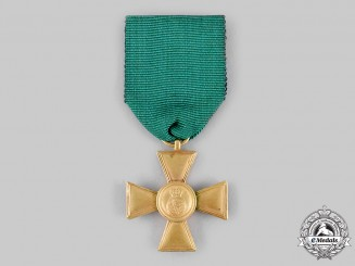 Saxon Duchies. A Rare Long Service Medal for Enlisted Personnel and Non-Commissioned Officers, I Class for 15 Years