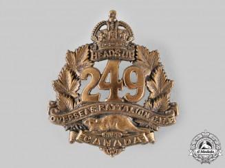 Canada, CEF. A 249th Infantry Battalion Cap Badge, c.1917