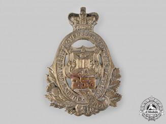 Canada, CEF. A 253rd Infantry Battalion Cap Badge, by Kinnear & Desterre, c.1917
