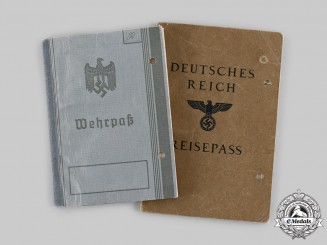 Germany, Heer. A Wehrpaß & Passport To Jewish Refugee Emigrating To Palestine In Early 1939