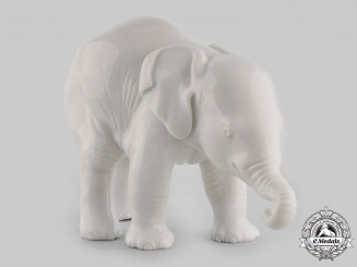 Germany, SS. A SS-Allach Standing Elephant Figurine by Theodor Kärner