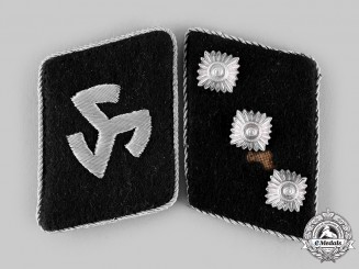 Germany, SS. A Rare Set of 27th SS Volunteer Division Langemarck Sturmführer Collar Tabs
