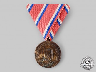 Croatia, Independent State. A Medal for the Twenty-Fifth Anniversary of Croatian Independence 1918-1943