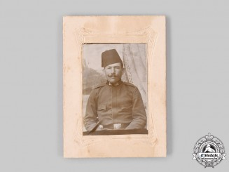 Austria, Empire. A Bosnian Soldier in the Austrian Army Studio Photograph
