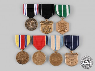 United States. A Lot of Seven Armed Forces Medals
