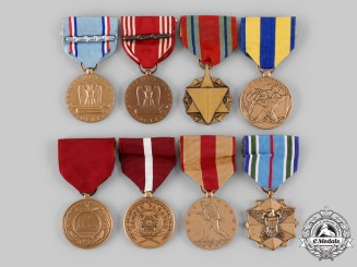 United States. A Lot of Eight Armed Forces Medals