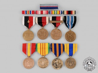 United States. A Lot of Eight Medals and Five Ribbon Bars
