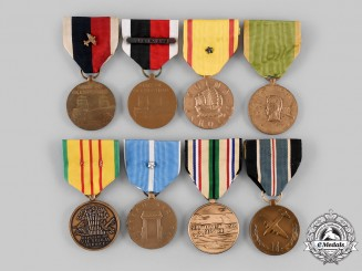 United States. A Lot of Eight Service Medals