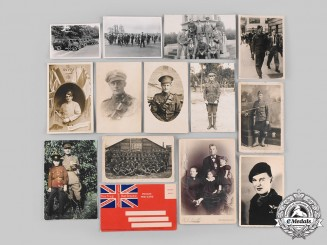 Canada, Australia, United Kingdom. A First and Second War Lot of Four Photos and Postcard
