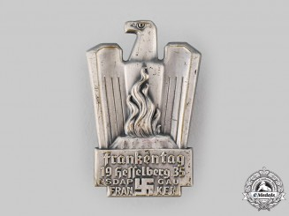 Germany, NSDAP. A 1935 Gau Franconia Day Badge