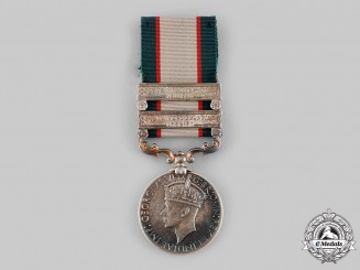 United Kingdom. An India General Service Medal 1936-1939, to Sepoy Puran Singh, 2nd Battalion, 2nd Punjab Regiment