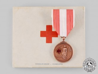 Netherlands, Kingdom. A Medal of Merit of the Dutch Red Cross, II Class Bronze Grade, c.1945