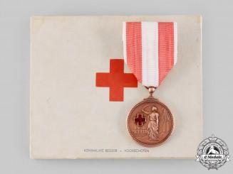 Netherlands, Kingdom. A Medal of Merit of the Dutch Red Cross, II Class Bronze Grade, c.1945